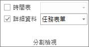 [檢視] 索引標籤上 [詳細資料] 核取方塊的圖像。