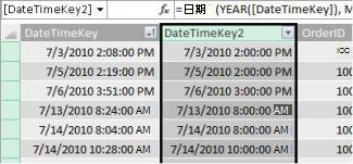 DateTimeKey 欄