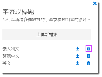 Office 365 影片刪除字幕