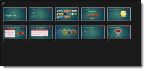 顯示放映用的所有投影片