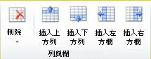 Publisher 2010 中的表格列和欄群組