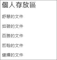 列出使用者 OneDrives 的連結