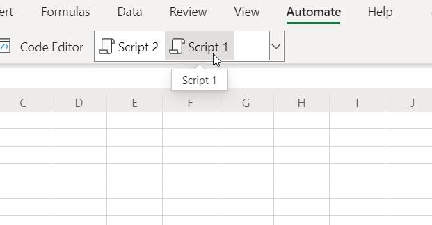 將滑鼠移至指令碼庫中的指令碼上
