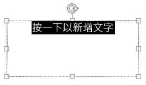 醒目提示版面配置區文字,然後輸入您自己的文字