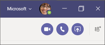聊天期間的通話按鈕