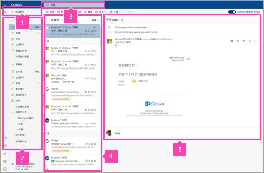 [郵件] 介面的螢幕擷取畫面