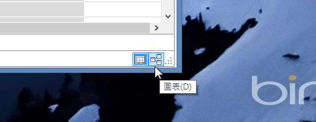 PowerPivot 中的 [圖表檢視] 按鈕