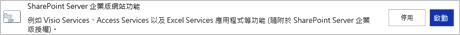 啟動 SharePoint Server 企業版網站功能