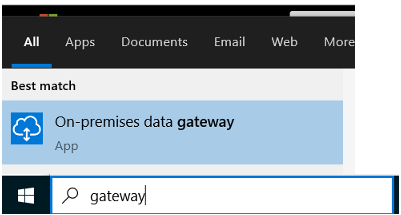 Search for the gateway application
