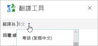 [翻譯工具] 視窗的螢幕擷取畫面