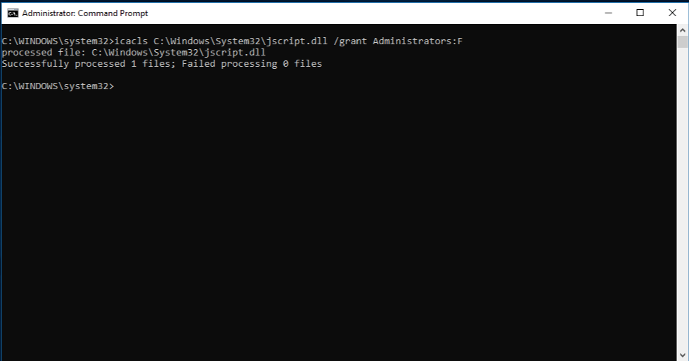 Command Prompt with administrator rights