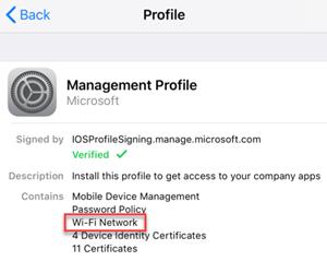 Management profile