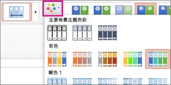變更時間表的色彩配置