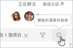 [清單詳細資料] 窗格的螢幕擷取畫面