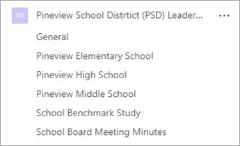 學校領導小組的範例。
