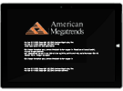 American Megatrends TPM security options screen