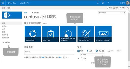 Office 365 小組網站首頁