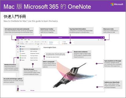 Mac 版 OneNote 2016 快速入門手冊