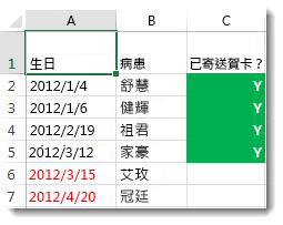 Excel 中的條件式格式設定範例