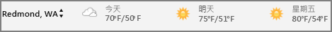行事曆中的天氣