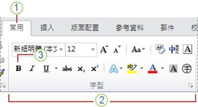 Word 2010 功能區