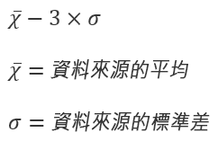 [反向溢位間隔] 選項的公式