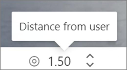 使用者 UI 的距離