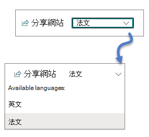 語言下拉式清單