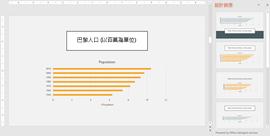 PowerPoint 設計工具建議圖表設計構想