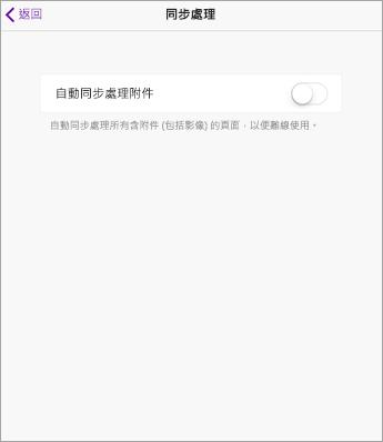 關閉 iPad 版 OneNote 設定中的 AutoSync。