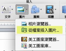 在功能區 [常用] 索引標籤的 [插入] 底下,按一下 [圖片] > [從檔案插入圖片]。