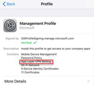 App-Layer VPN setting