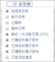 Office 365 報告 - 管理電子郵件活動報告的欄位