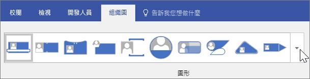 [組織圖] 工具列的螢幕擷取畫面