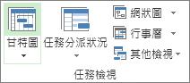[檢視] 索引標籤上的 [任務檢視] 群組。