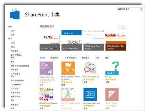 SharePoint 市集的螢幕擷取畫面
