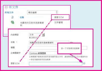 受管理的中繼資料欄讓使用者使用文件摘要資訊,選取要在欄中輸入的預先定義值。