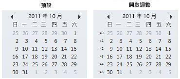 [待辦事項列] 中的日期導覽 (不論是否有週數)