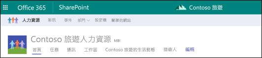 SharePoint 中樞網站共用功能