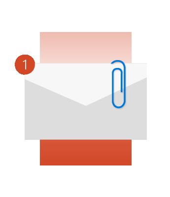 Outlook 可提醒您要附加檔案。