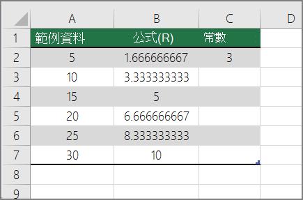 最後的結果的數字除以常數