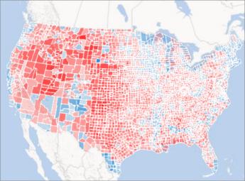 Power Map 中的區域圖