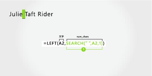 分隔第一個和斷字的姓氏的公式
