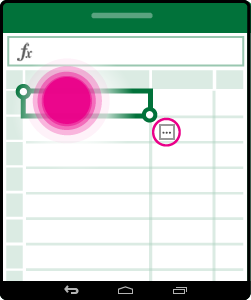 開啟儲存格的內容相關式功能表