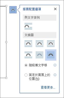 文字方塊版面配置選項