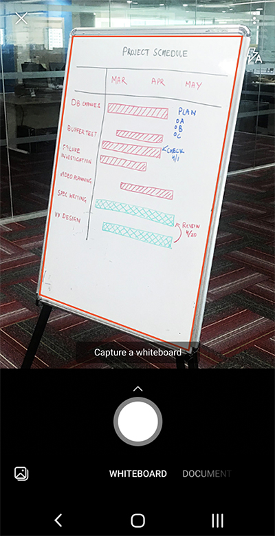 Android 手機上 Microsoft Lens 的螢幕擷取畫面