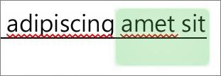 醒目提示顯示由其他作者做出的變更