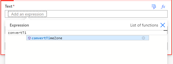 Convert time zone expression in Power Automate