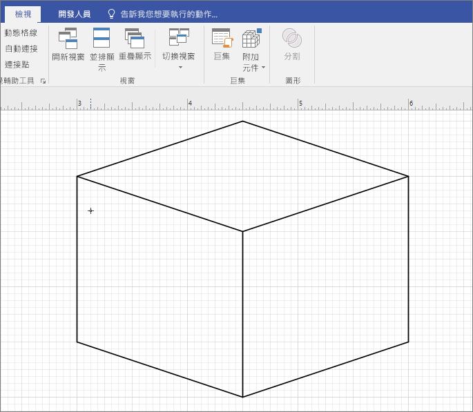 繪製圖案以手動方式使用 [線條] 工具。