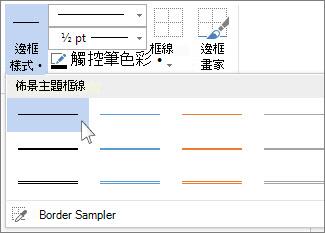 表格框線樣式